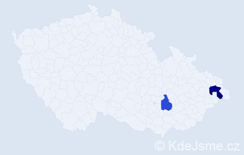 Příjmení: 'Kolčář', počet výskytů 11 v celé ČR