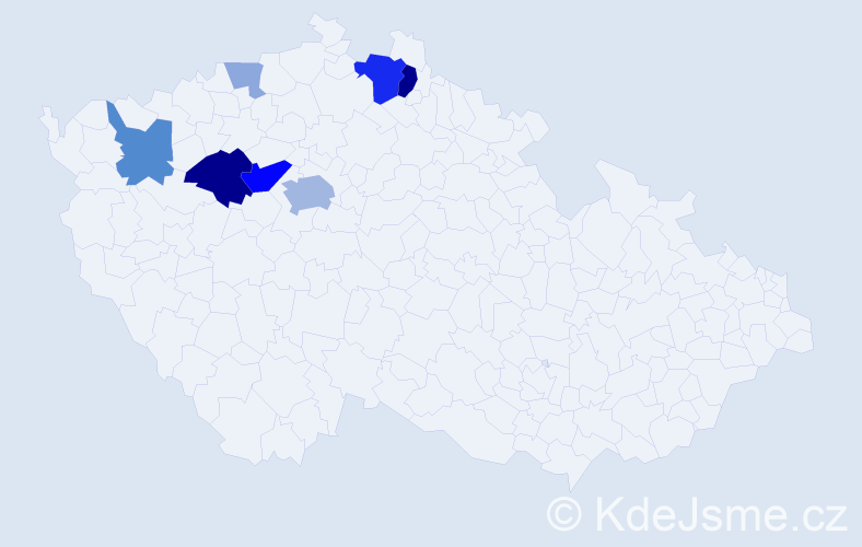 Příjmení: 'Ládková', počet výskytů 23 v celé ČR