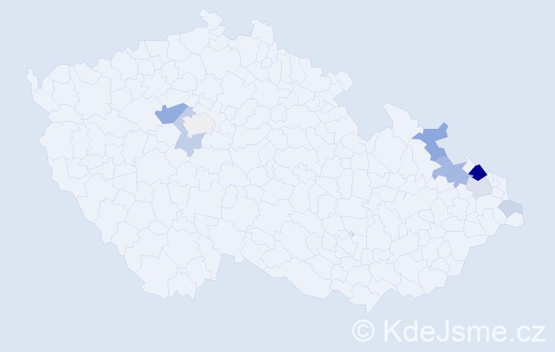 Příjmení: 'Breitkopfová', počet výskytů 24 v celé ČR