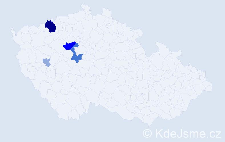 Příjmení: 'Glasberger', počet výskytů 9 v celé ČR