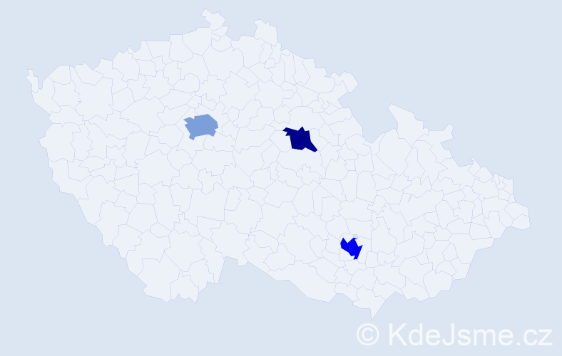 Příjmení: 'Evansová', počet výskytů 5 v celé ČR