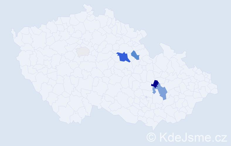 Příjmení: 'Hennebergová', počet výskytů 10 v celé ČR