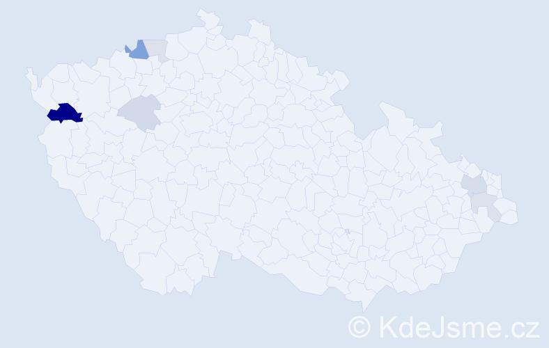 Příjmení: 'Gabrik', počet výskytů 16 v celé ČR