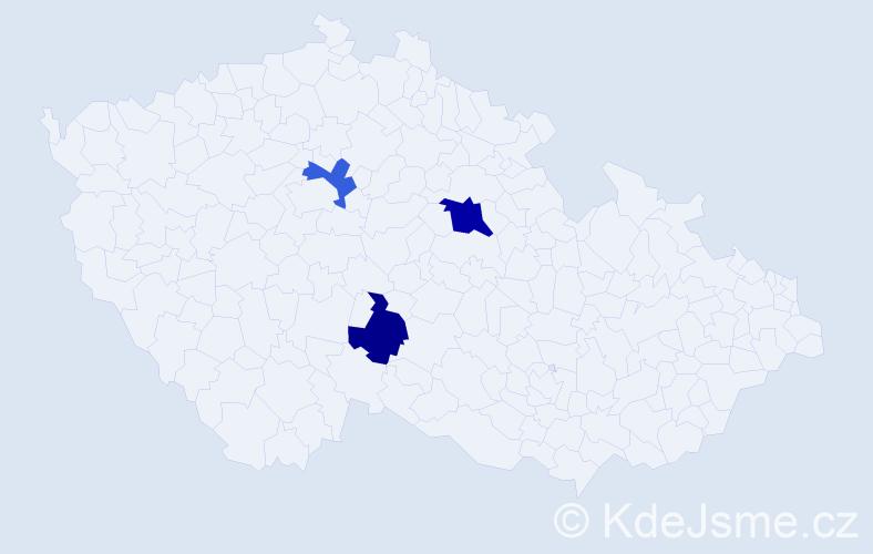 Příjmení: 'Jakube', počet výskytů 4 v celé ČR