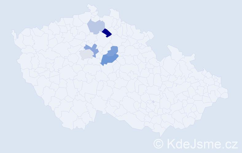 Příjmení: 'Bajtler', počet výskytů 12 v celé ČR