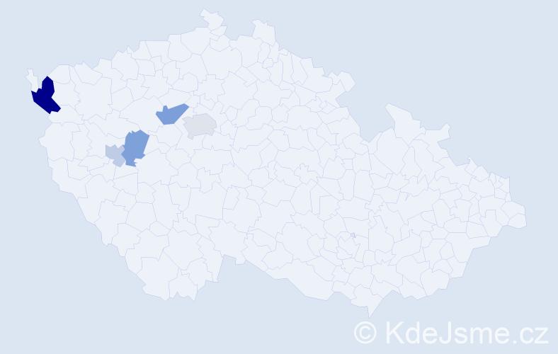 Příjmení: 'Ernatová', počet výskytů 10 v celé ČR