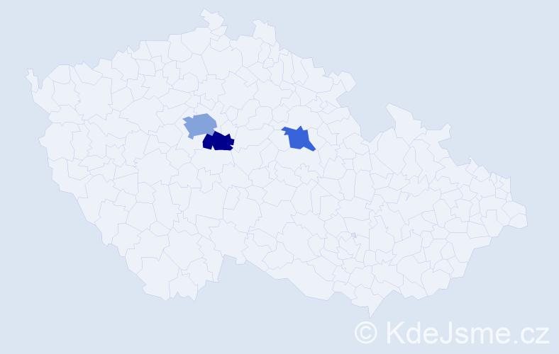 Příjmení: 'Andrašová', počet výskytů 5 v celé ČR