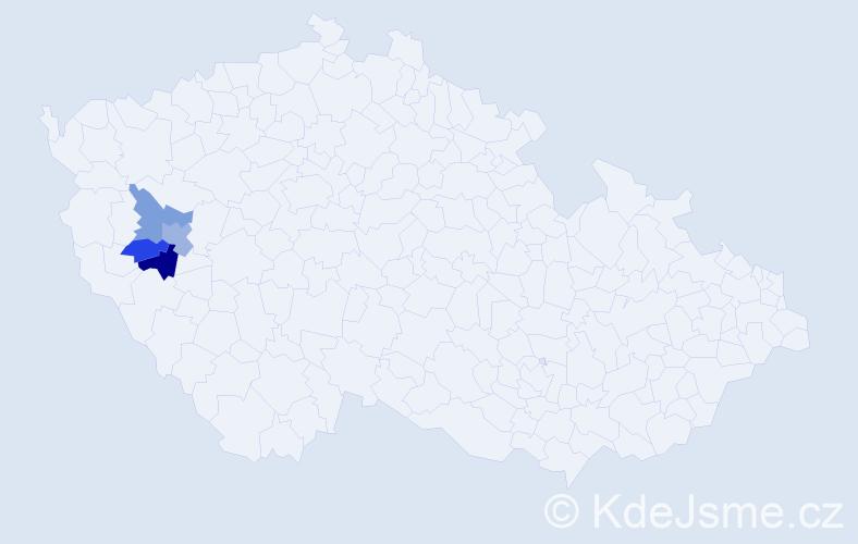 Příjmení: 'Egenvald', počet výskytů 10 v celé ČR