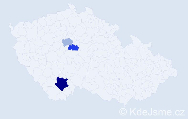 Příjmení: 'Effmert', počet výskytů 7 v celé ČR