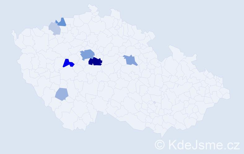 Příjmení: 'Lancingerová', počet výskytů 40 v celé ČR