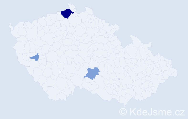 Příjmení: 'Eidrna', počet výskytů 14 v celé ČR