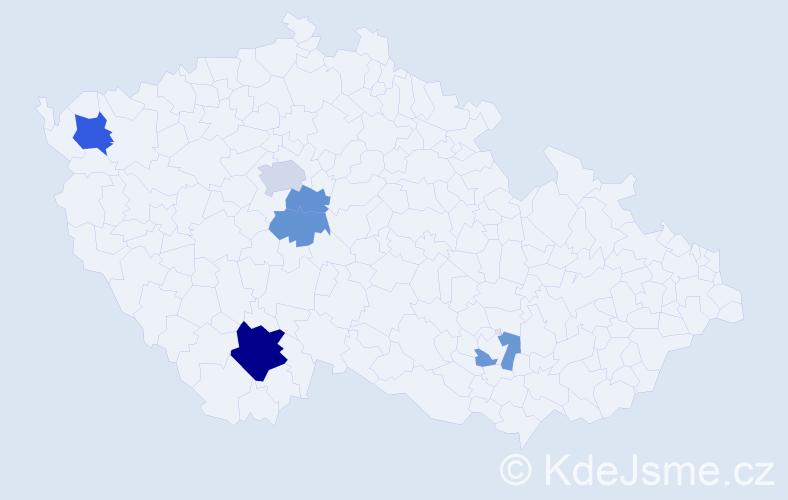 Příjmení: 'Atexingerová', počet výskytů 12 v celé ČR