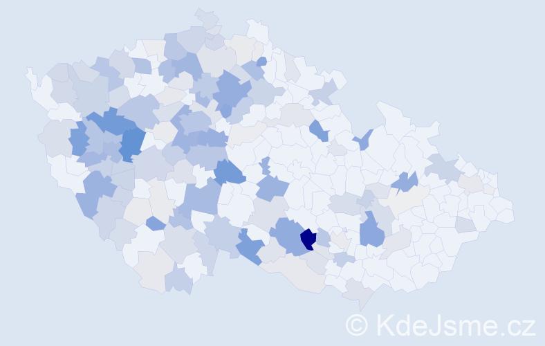 Příjmení: 'Bohuslav', počet výskytů 544 v celé ČR