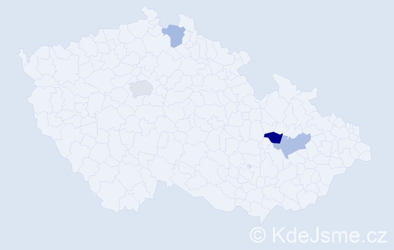 Příjmení: 'Lepa', počet výskytů 10 v celé ČR