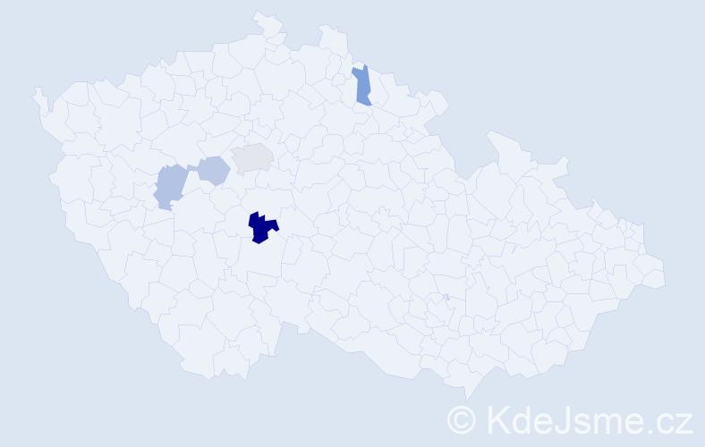 Příjmení: 'Dattel', počet výskytů 8 v celé ČR