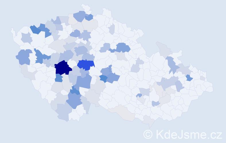 Příjmení: 'Bambas', počet výskytů 304 v celé ČR
