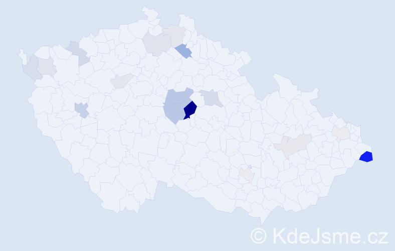 Příjmení: 'Cháma', počet výskytů 37 v celé ČR
