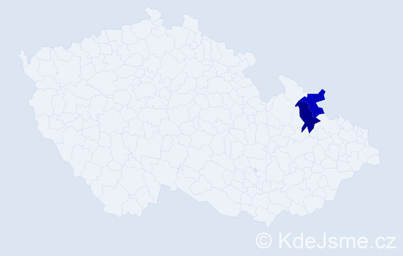Příjmení: 'Čaflaki', počet výskytů 2 v celé ČR