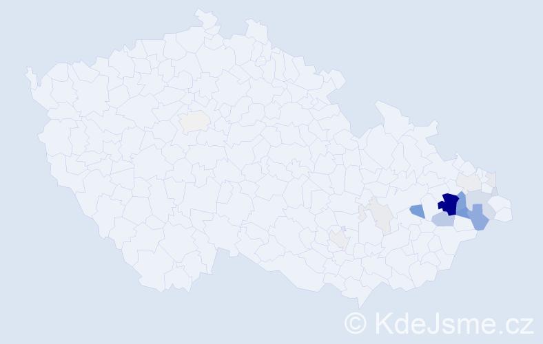 Příjmení: 'Géryk', počet výskytů 63 v celé ČR