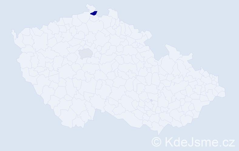 Příjmení: 'Kolarecová', počet výskytů 2 v celé ČR