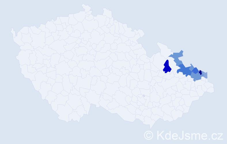 Příjmení: 'Malurek', počet výskytů 31 v celé ČR