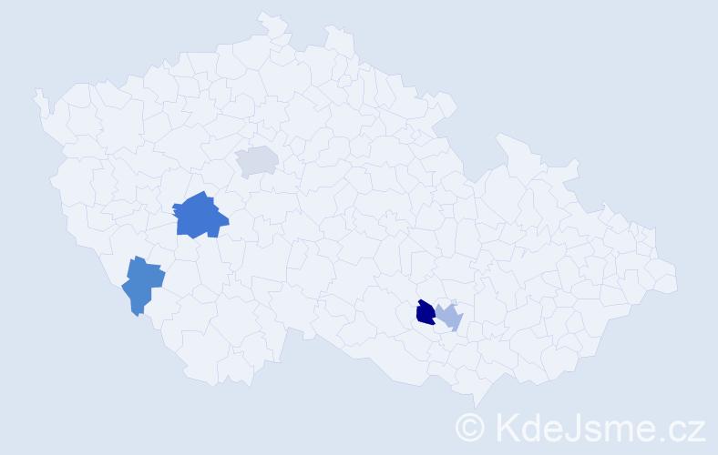 Příjmení: 'Jendruščák', počet výskytů 12 v celé ČR