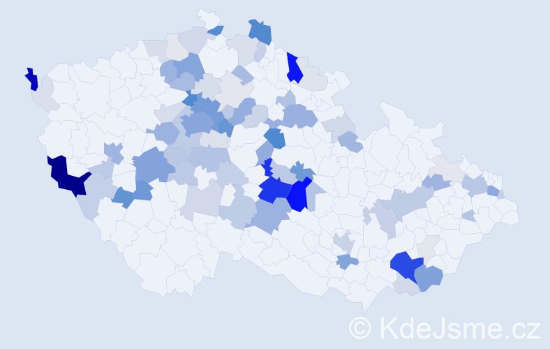 Příjmení: 'Halíková', počet výskytů 331 v celé ČR