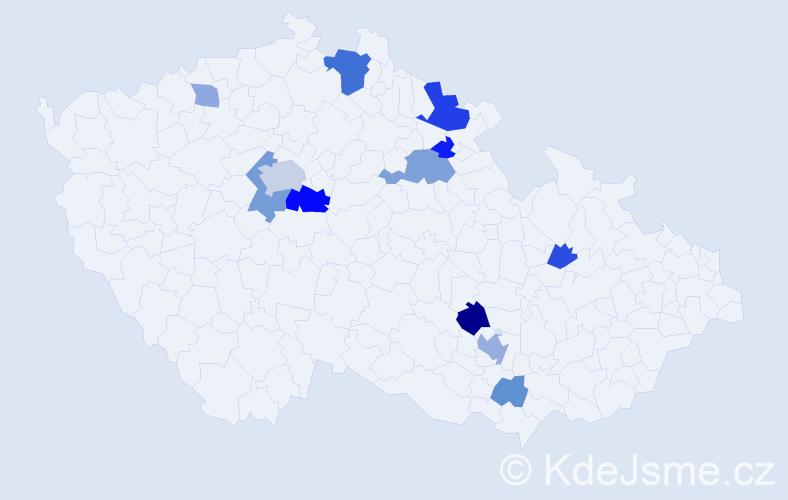 Příjmení: 'Heisler', počet výskytů 27 v celé ČR