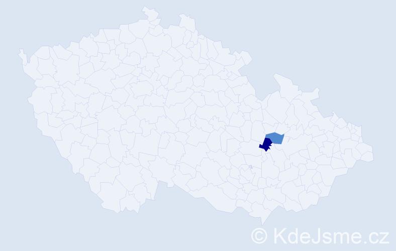 Příjmení: 'Jakubjanec', počet výskytů 2 v celé ČR