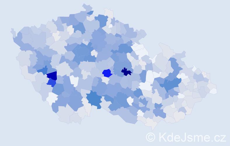 Příjmení: 'Vodička', počet výskytů 2662 v celé ČR