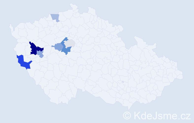 Příjmení: 'Hilgart', počet výskytů 15 v celé ČR