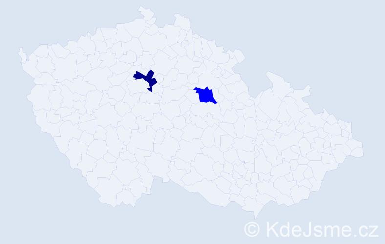 Příjmení: 'Dworschaková', počet výskytů 2 v celé ČR