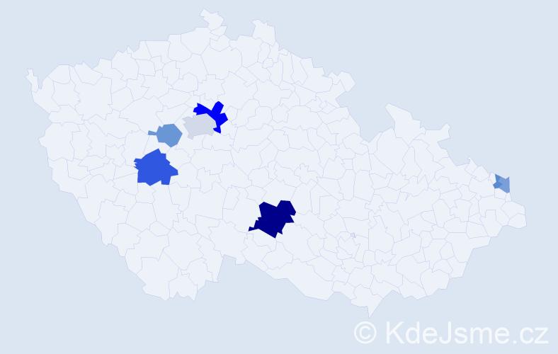 Příjmení: 'Lacena', počet výskytů 14 v celé ČR