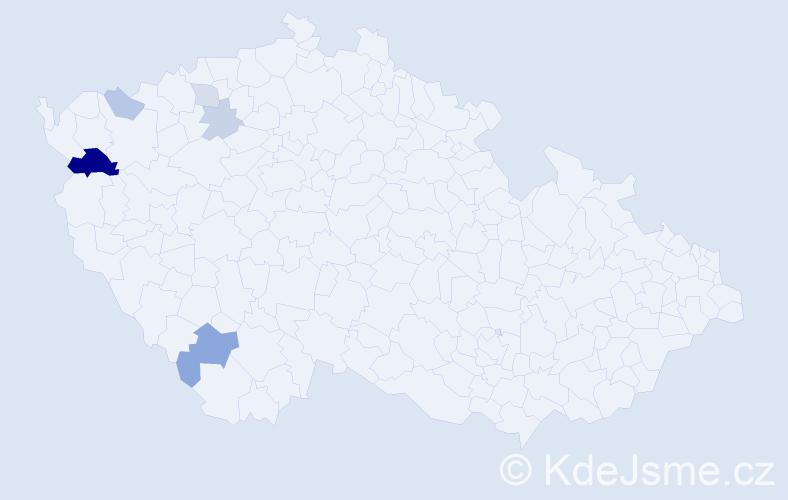 Příjmení: 'Korčok', počet výskytů 12 v celé ČR