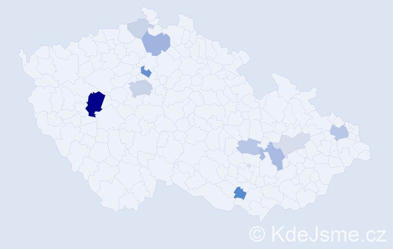 Příjmení: 'Čornej', počet výskytů 31 v celé ČR