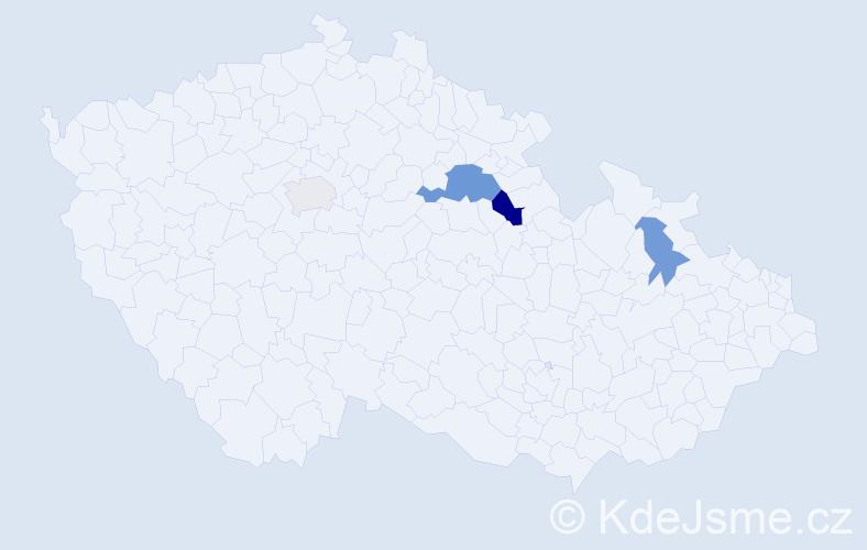 Příjmení: 'Golitková', počet výskytů 7 v celé ČR