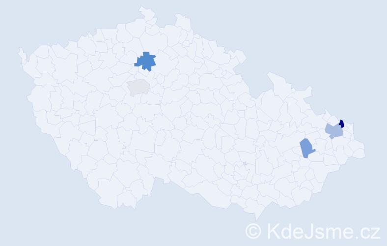 Příjmení: 'Gasiorová', počet výskytů 11 v celé ČR