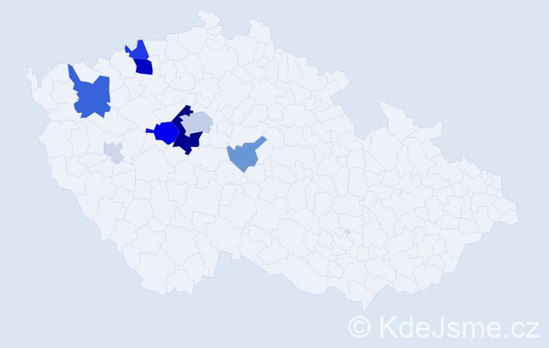 Příjmení: 'Arnolt', počet výskytů 40 v celé ČR