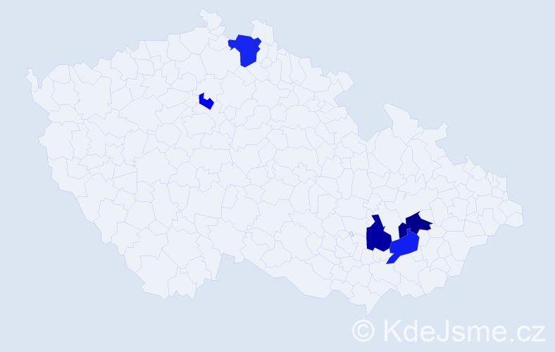 Příjmení: 'Deduchová', počet výskytů 11 v celé ČR