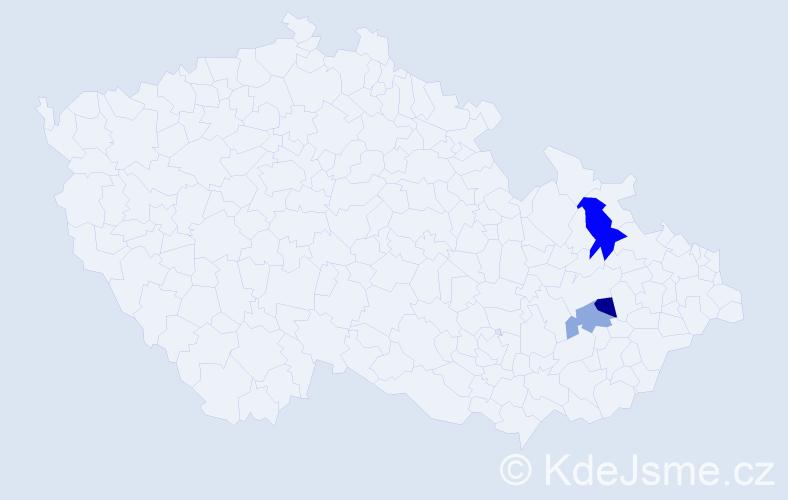 Příjmení: 'Andruščák', počet výskytů 8 v celé ČR