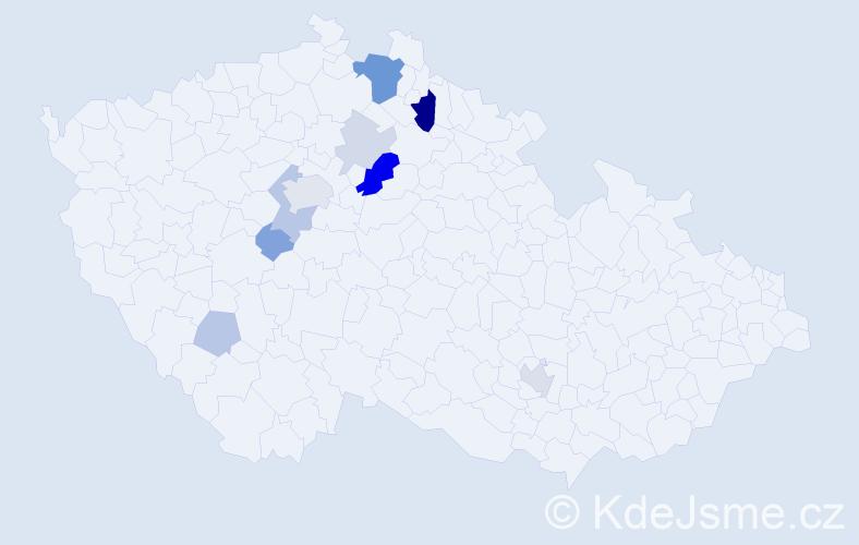 Příjmení: 'Hamtil', počet výskytů 29 v celé ČR