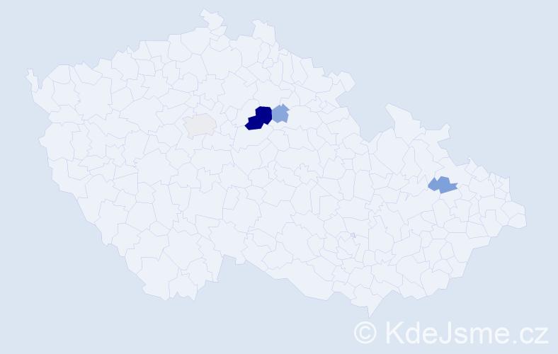 Příjmení: 'Czernin', počet výskytů 12 v celé ČR