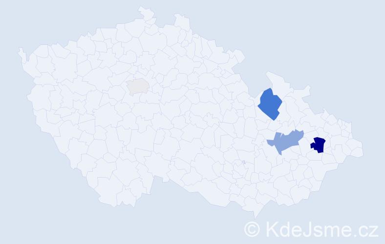 Příjmení: 'Faltičko', počet výskytů 10 v celé ČR