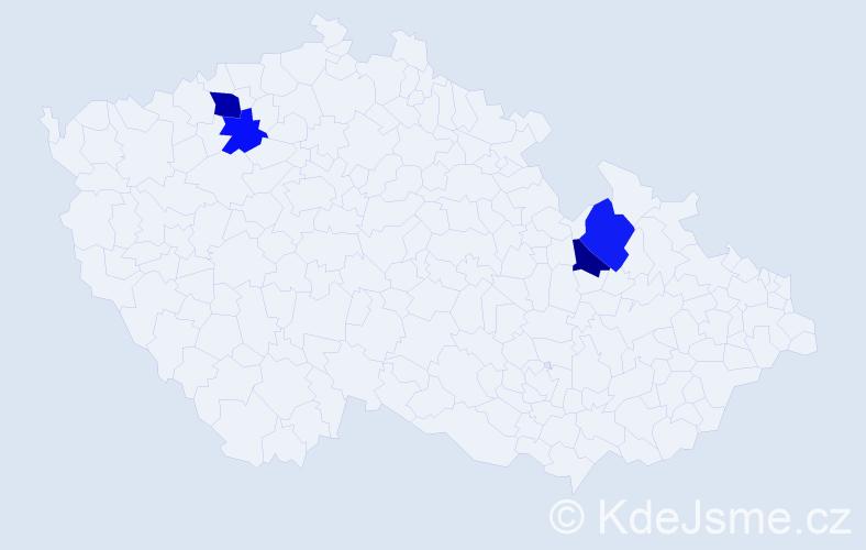 Příjmení: 'Breckl', počet výskytů 11 v celé ČR