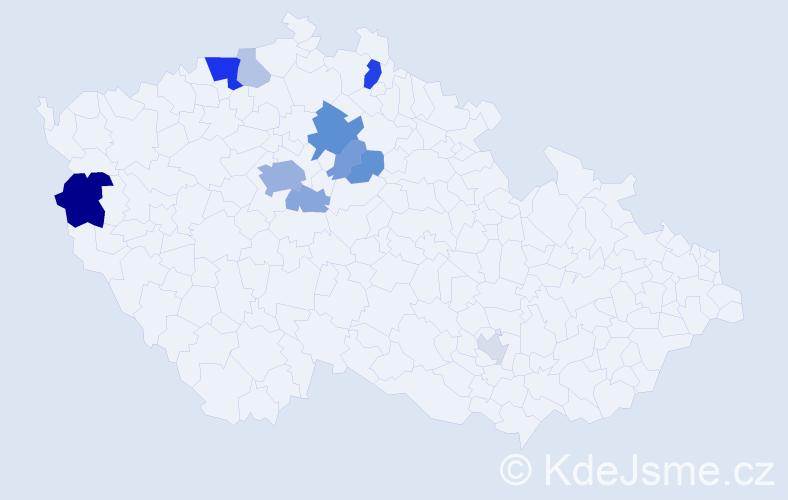 Příjmení: 'Cholenská', počet výskytů 29 v celé ČR