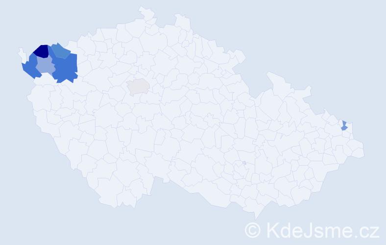 Příjmení: 'Lembacher', počet výskytů 10 v celé ČR