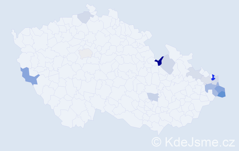 Příjmení: 'Donová', počet výskytů 30 v celé ČR