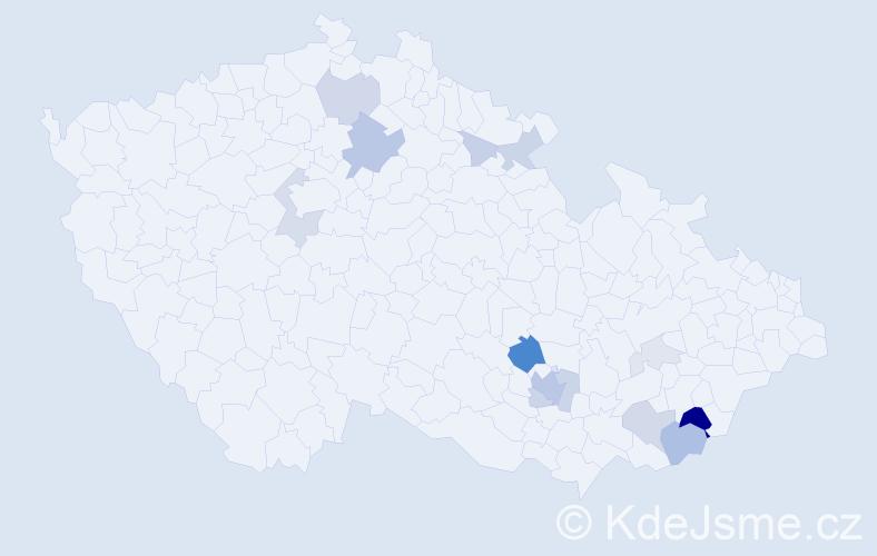 Příjmení: 'Humpola', počet výskytů 44 v celé ČR