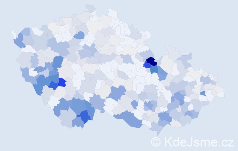 Příjmení: 'Čadová', počet výskytů 1102 v celé ČR