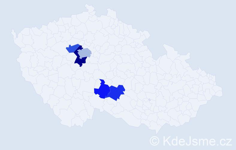 Příjmení: 'Angelis', počet výskytů 30 v celé ČR